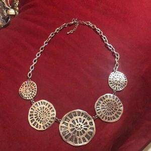 "Silver Tone  Necklace 16"""